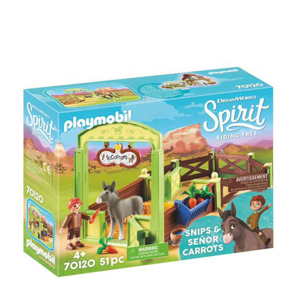 Playmobil Spirit  Knip en Meneer Worteltjes met paardenbox