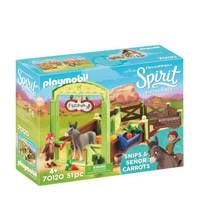 Playmobil Spirit Knip en Meneer Worteltjes met paardenbox 70120