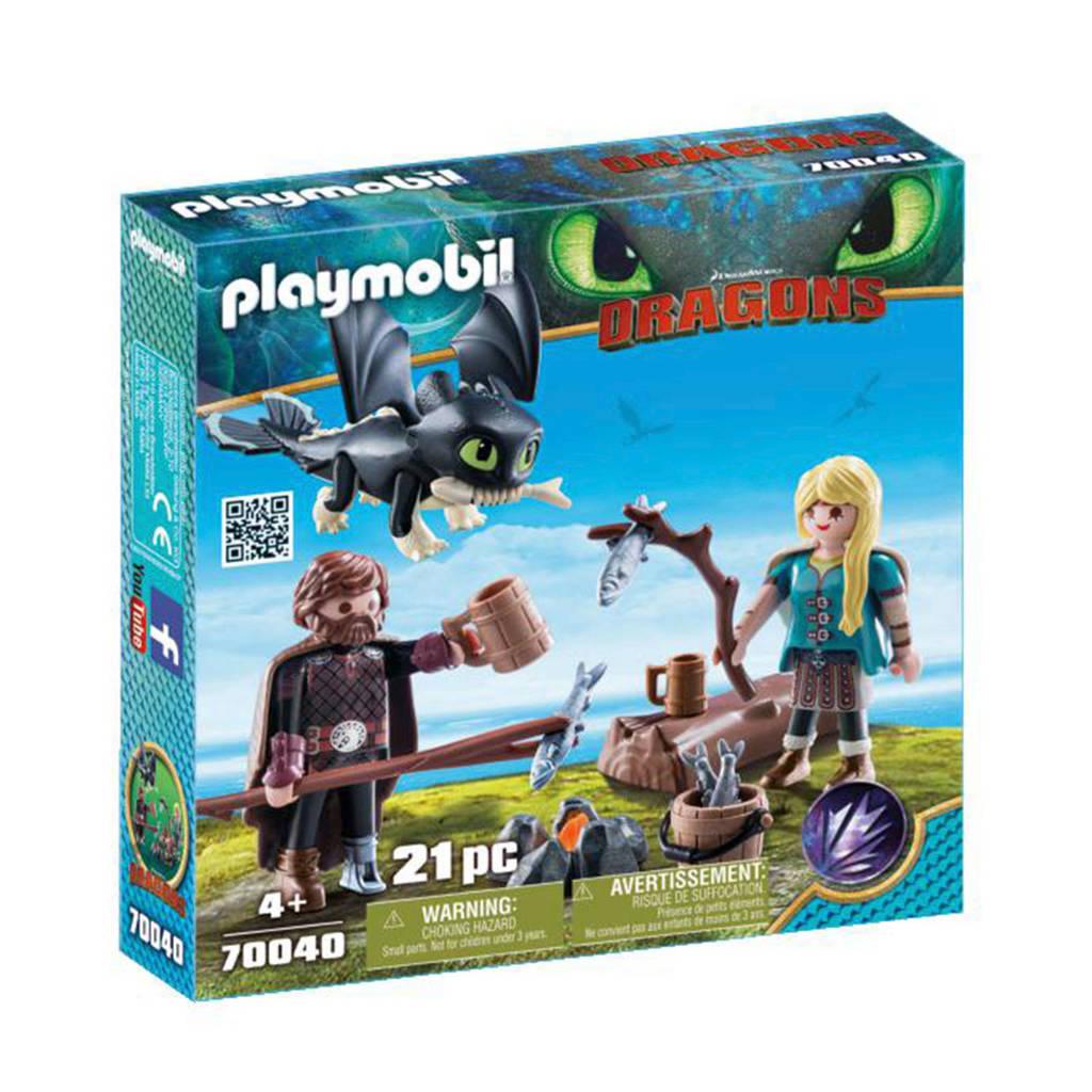 Playmobil Hikkie en Astrid met Babydraak 70040