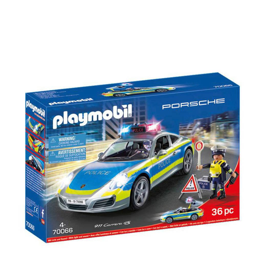 Playmobil Porsche Porsche 911 Carrera 4S Politie - wit 70066