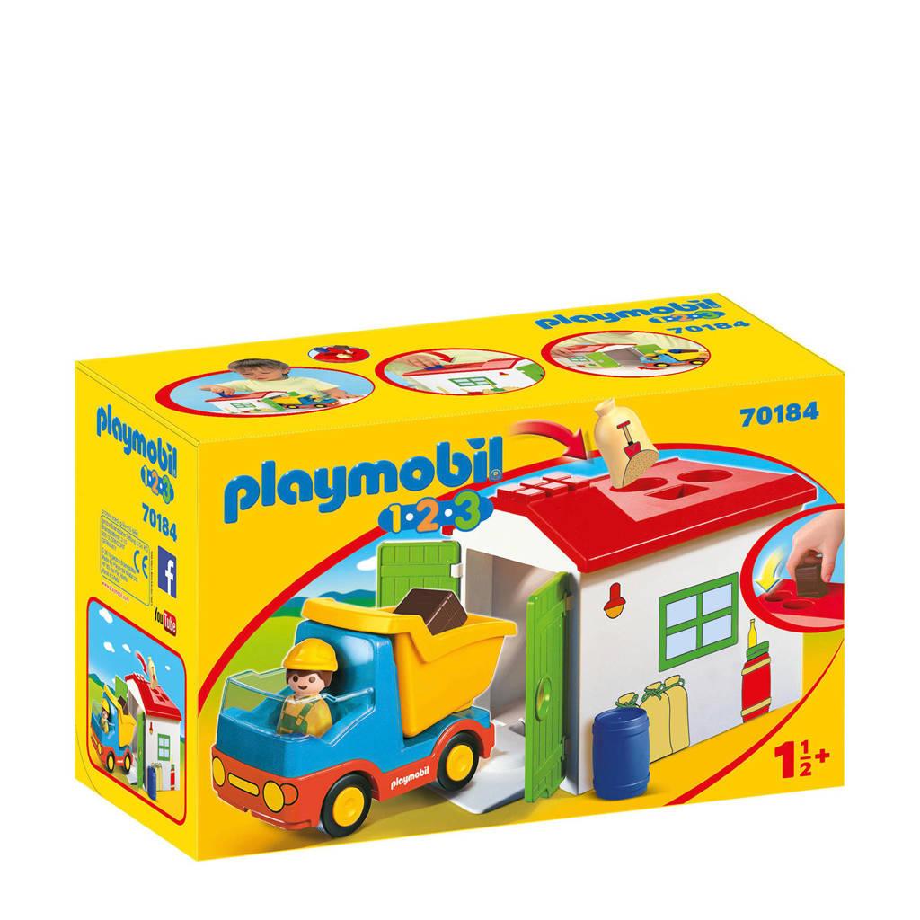 Playmobil 1-2-3 werkman met sorteer-garage 70184