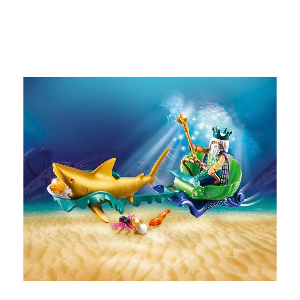 Playmobil Magic Koning Der Zeeën Met Haaienkoets 70097 Wehkamp