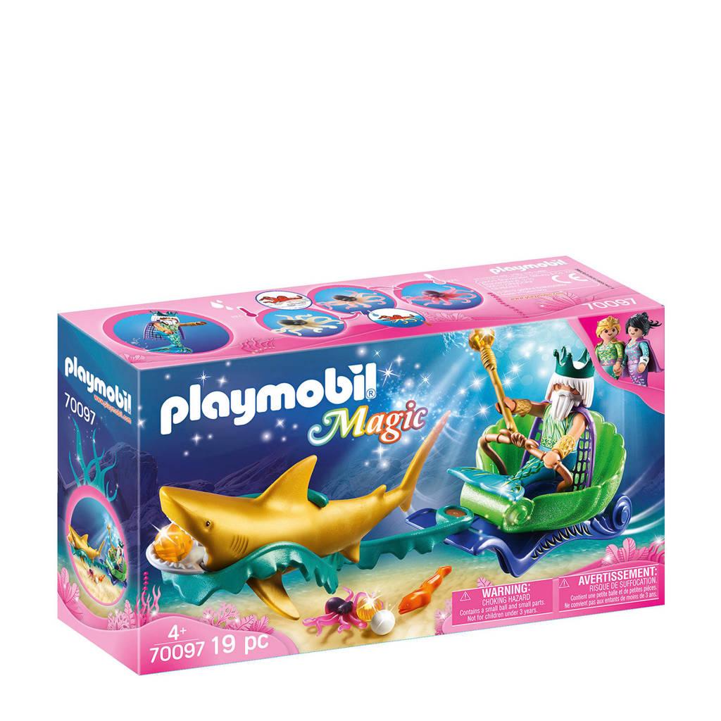 Playmobil Magic koning der zeeën met haaienkoets 70097