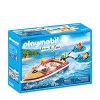 Playmobil Family Fun motorboot met funtubes 70091