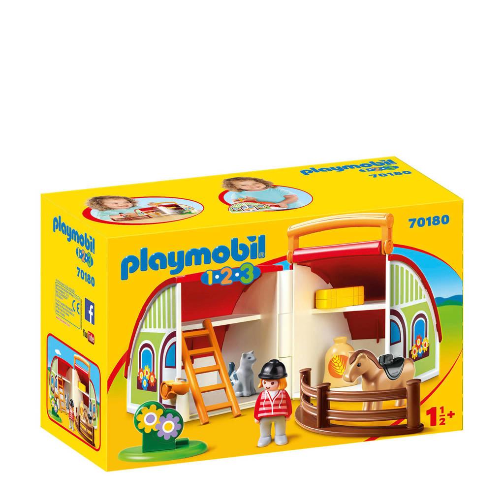 Playmobil 1-2-3  mijn meeneem manege