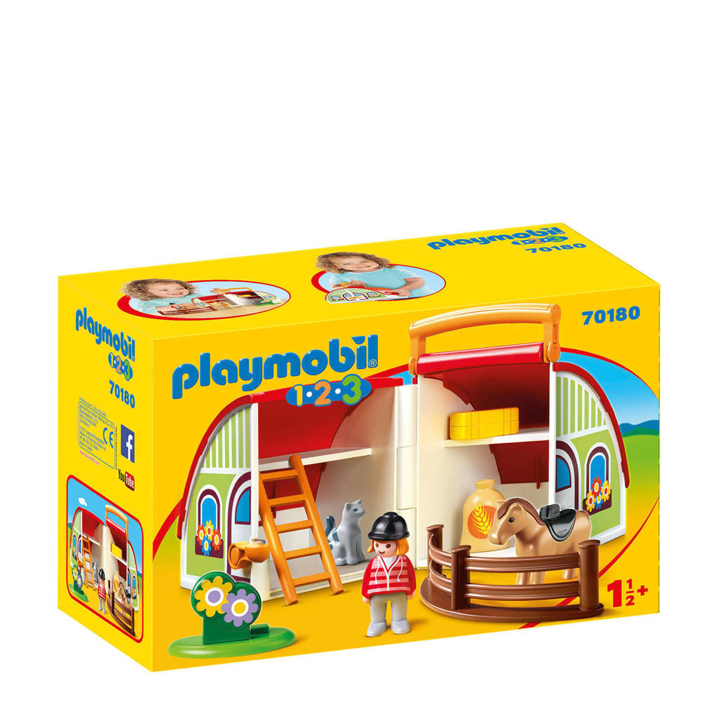 Playmobil 1-2-3 mijn meeneem manege 70180
