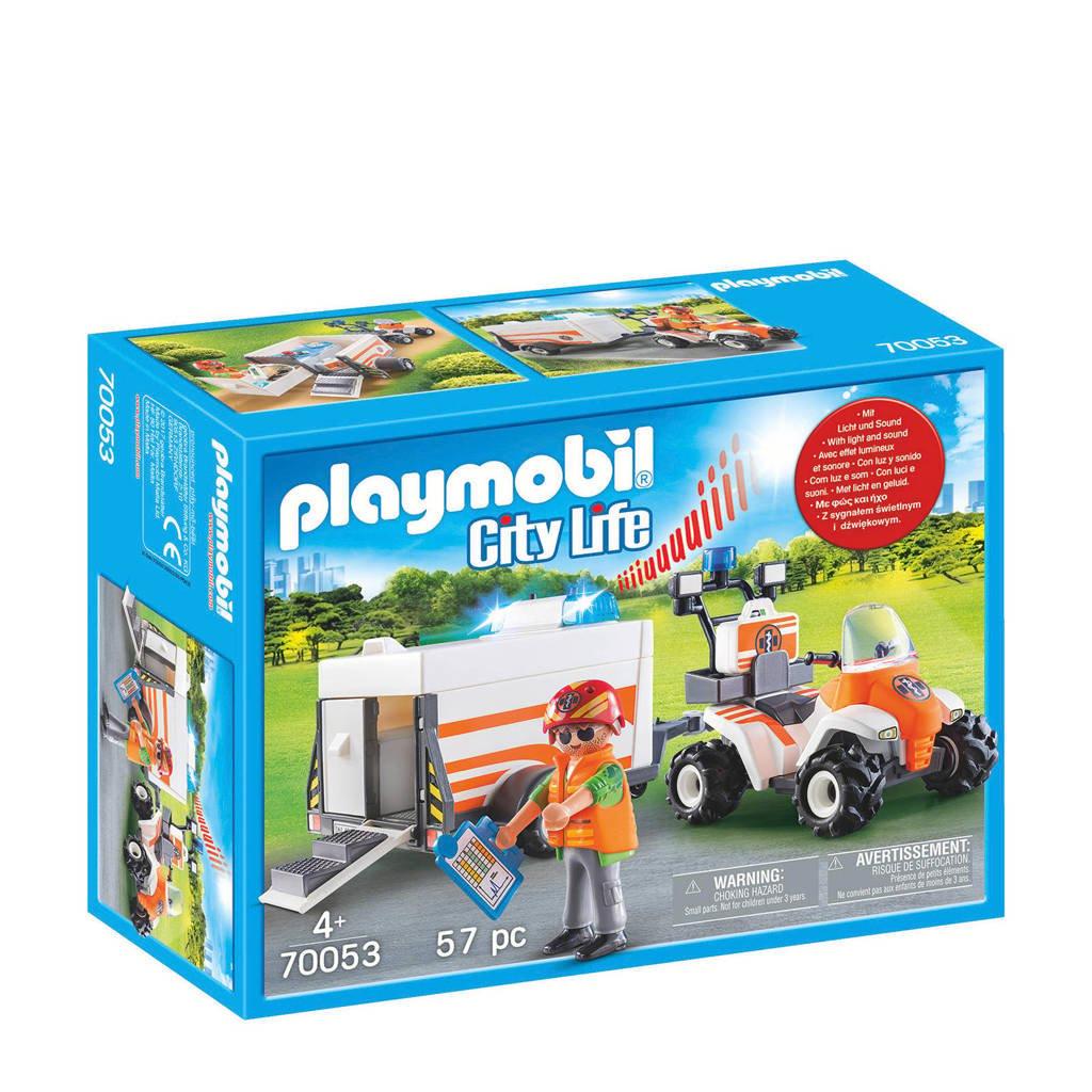 Playmobil eerste hulp quad met trailer 70053