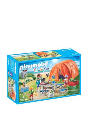 Family Fun kampeerders met tent  70089