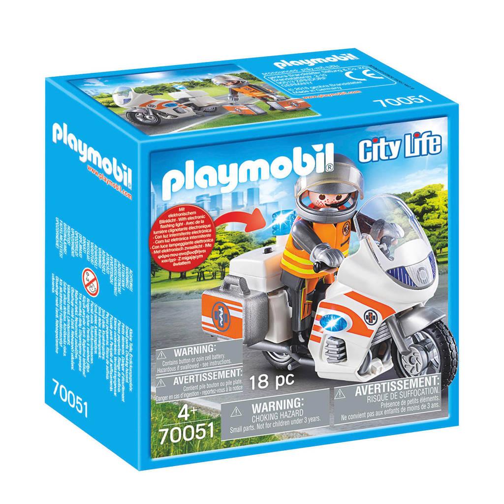 Playmobil spoedarts op moto 70051
