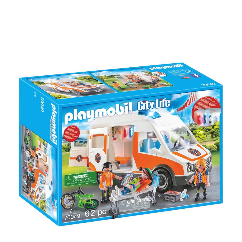 Playmobil ambulance en ambulanciers 70049