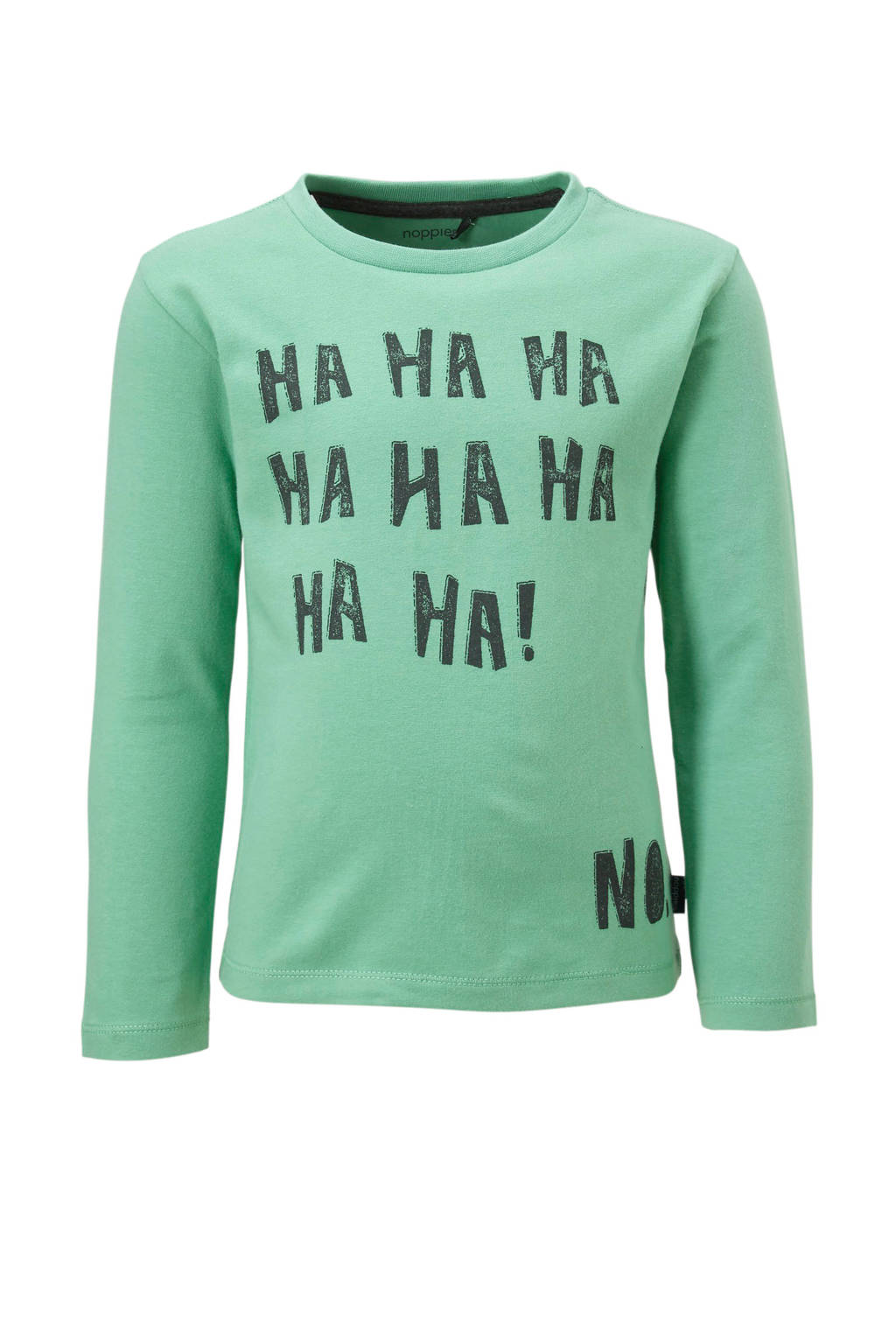 Noppies longsleeve Pepperell, Pastelgroen