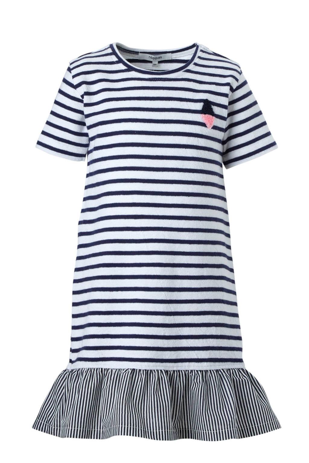 Noppies jurk Rosemead, marine/ wit