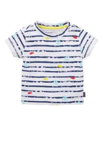 baby T-shirt met allover print blauw