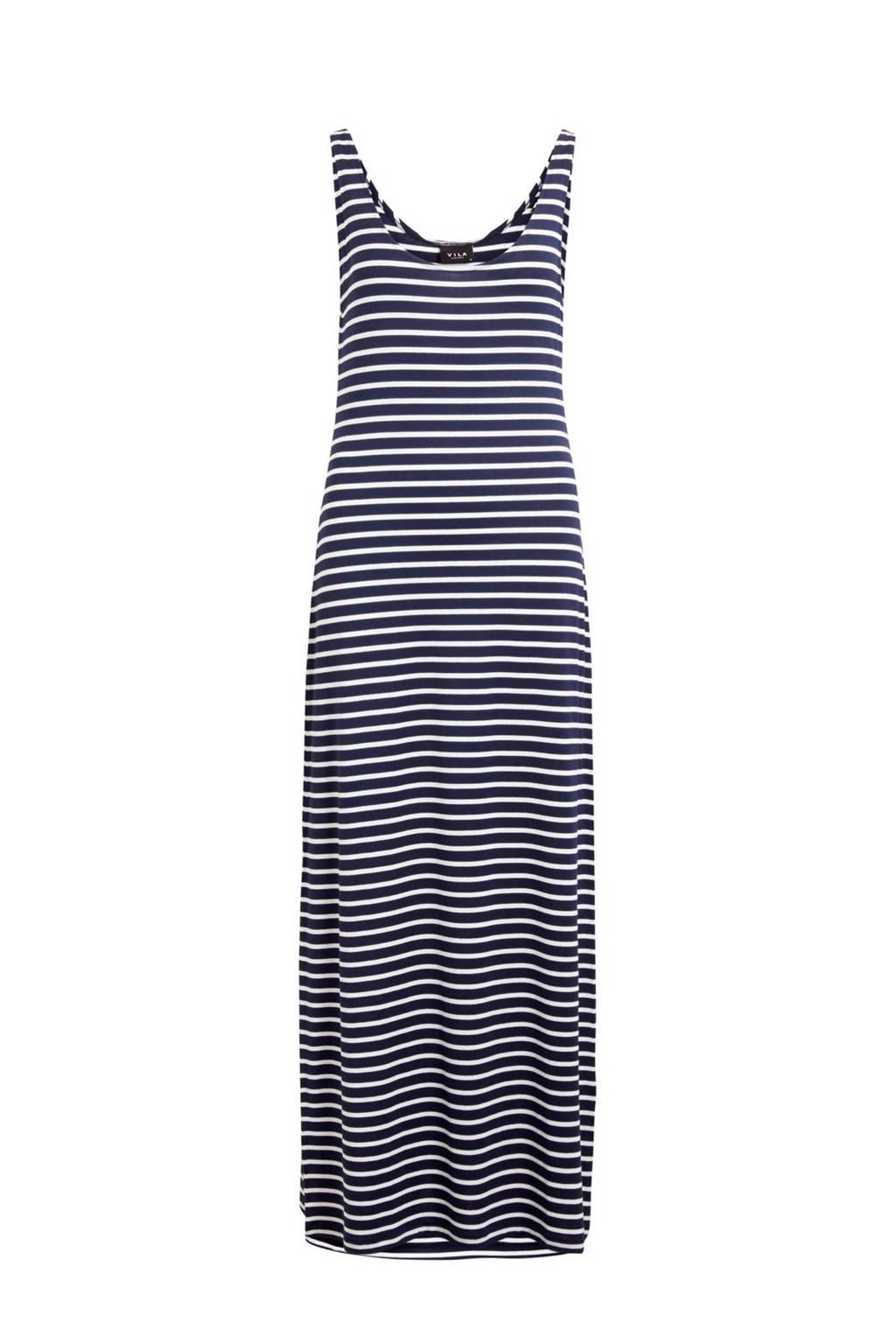 VILA maxi jurk met strepen, Blauw