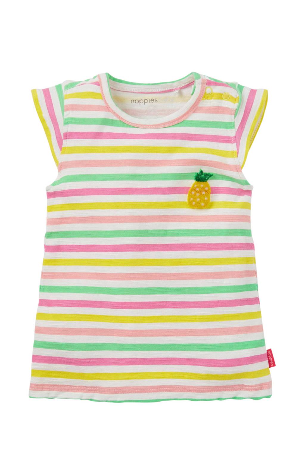 Noppies baby jurk gestreept Sherwood, Geel/ Groen/ roze/ wit