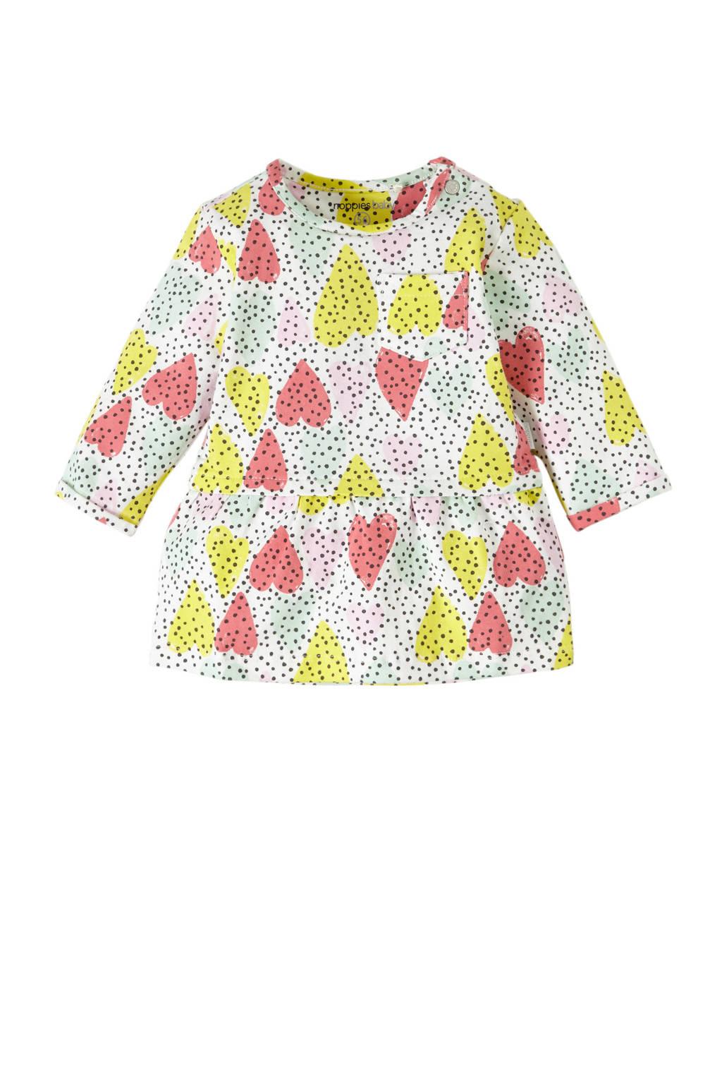 Noppies baby jurk, Roze/ geel/ groen/ off white