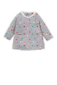 Noppies newborn baby jurk Roseville met strepen, Marine/ wit/ roze/ rood/ groen