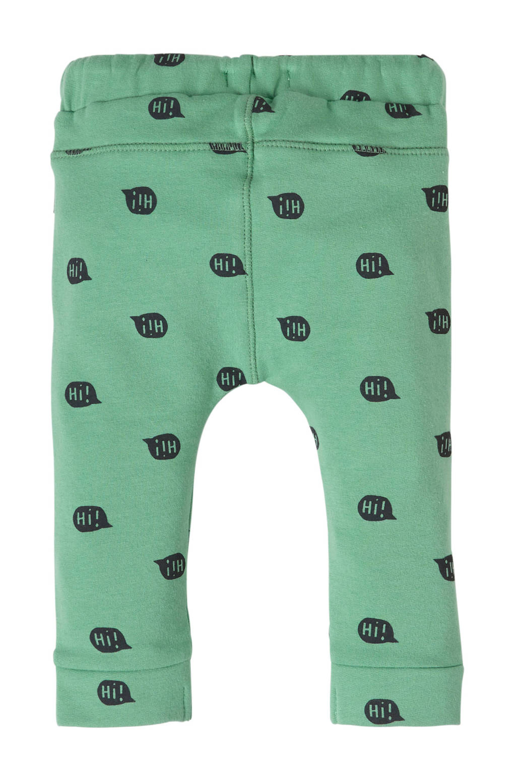 Noppies   baby slim fit joggingbroek met all over print vergrijsd groen, Vergrijsd groen