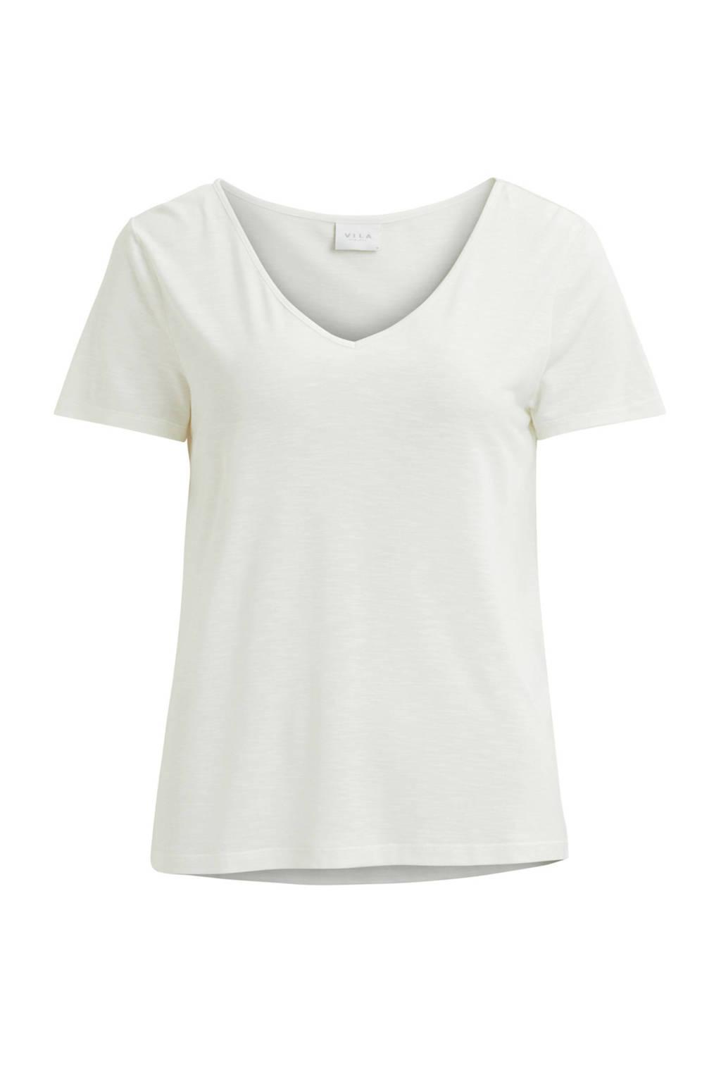 VILA T-shirt wit, Wit