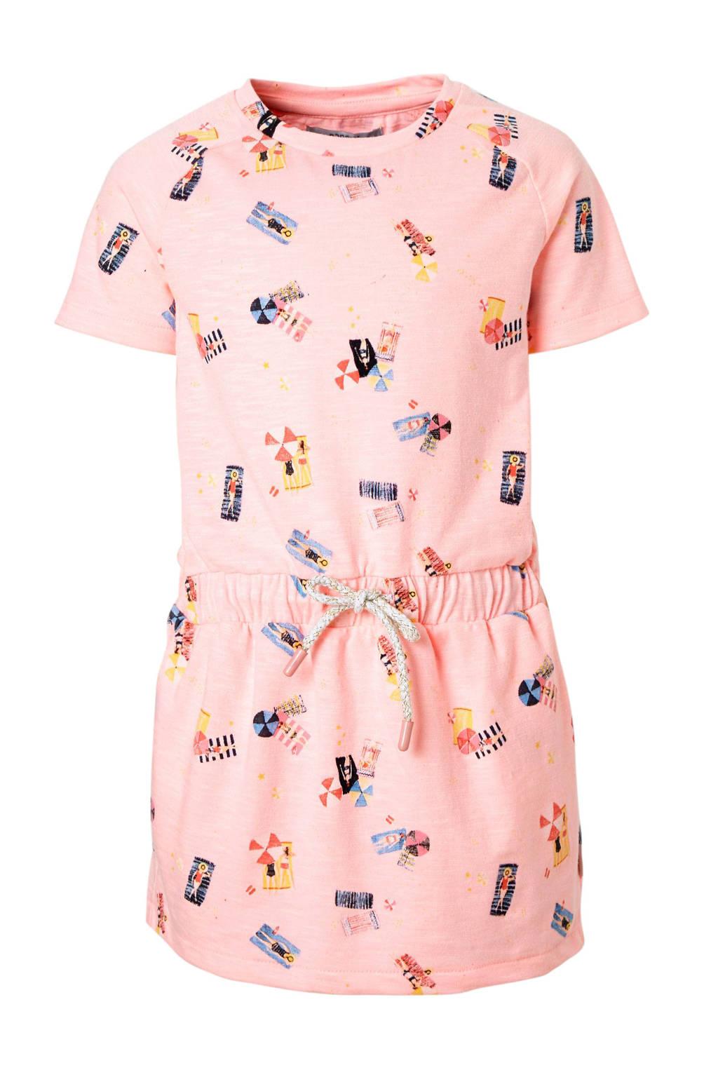 Noppies jurk met alloverprint roze, Roze