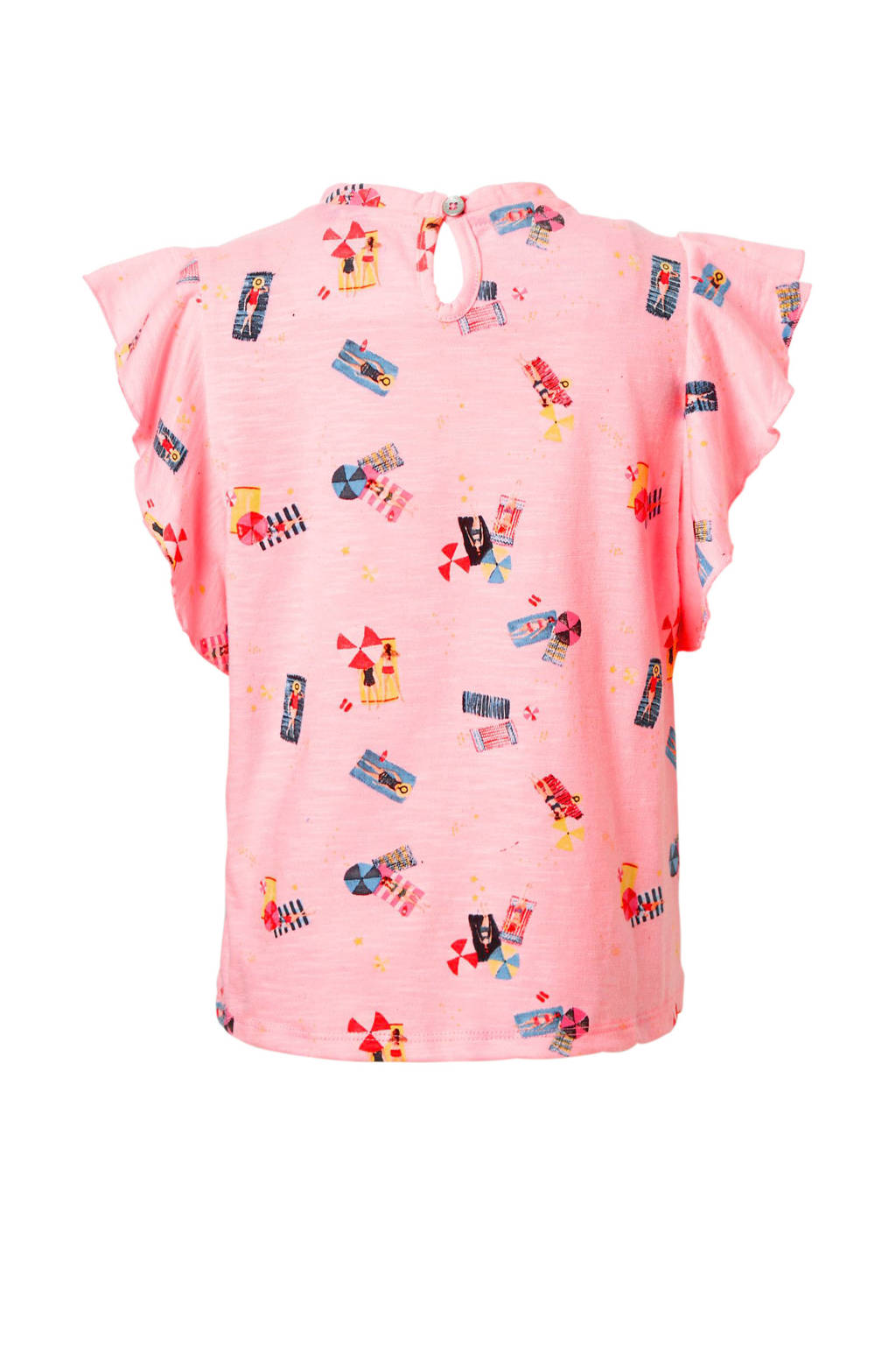 Noppies T-shirt met alloverprint roze, Roze