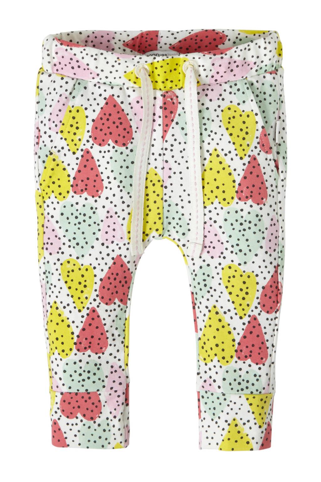 Noppies baby broek Pocahontas, Off white/ roze/ geel/ lichtgroen