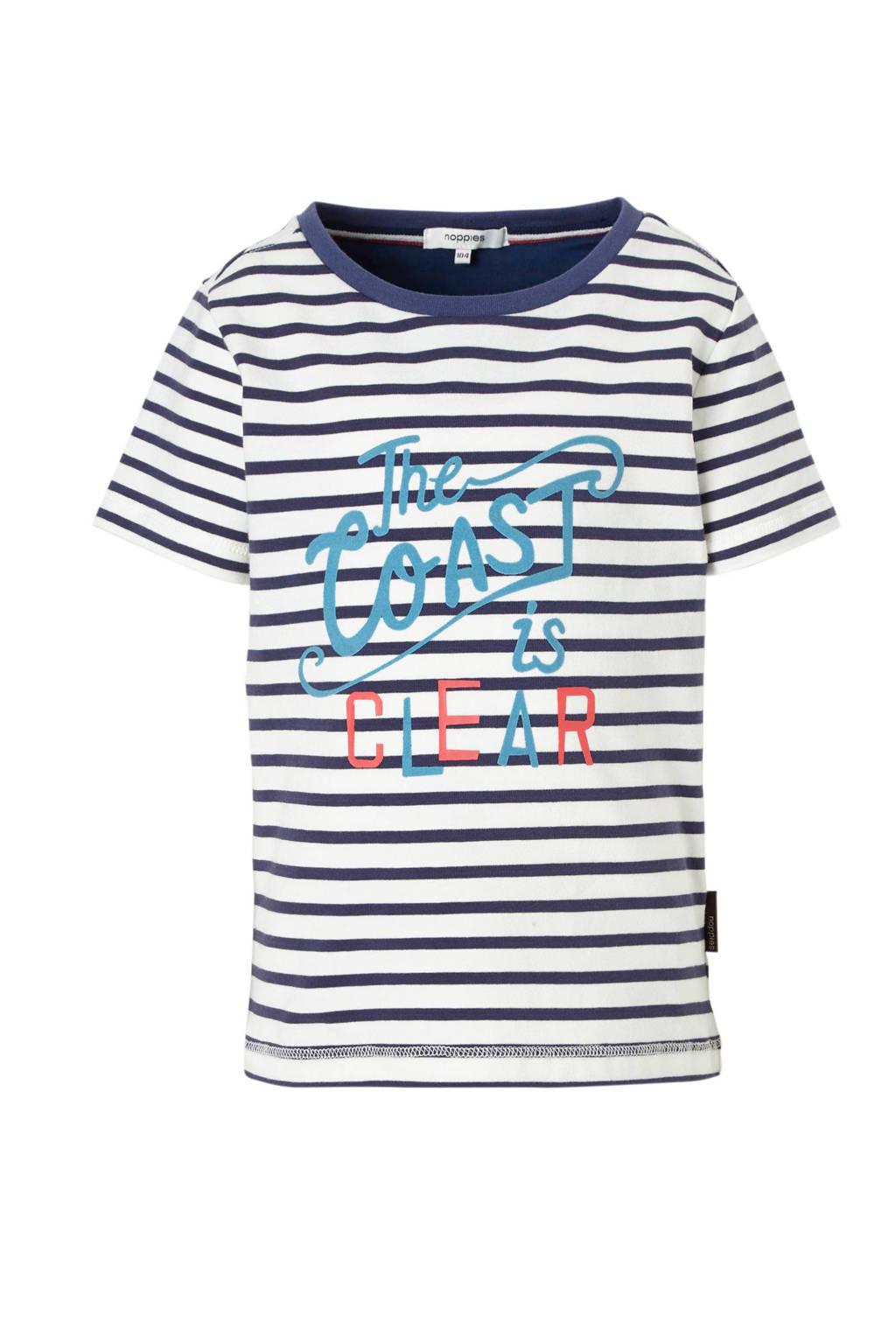 Noppies T-shirt Rye, marine/ wit