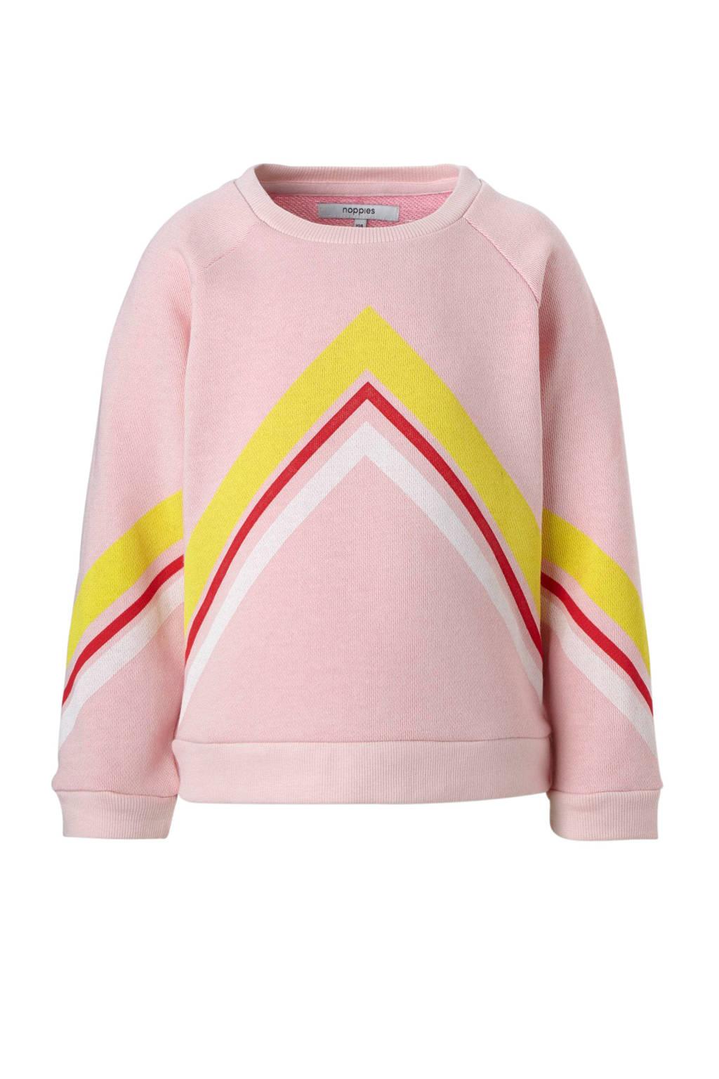 Noppies sweater Reserve, Roze/geel