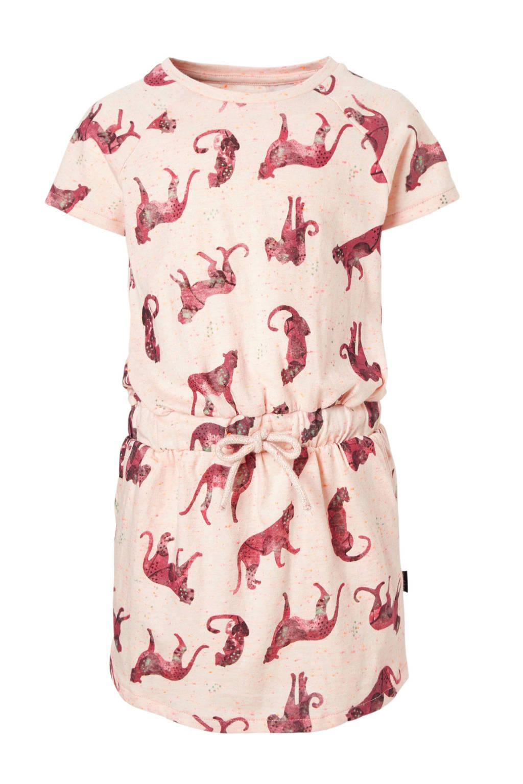 Noppies jurk met alloverprint roze, Zachtroze/roze