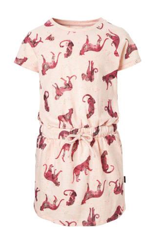 jurk met alloverprint roze