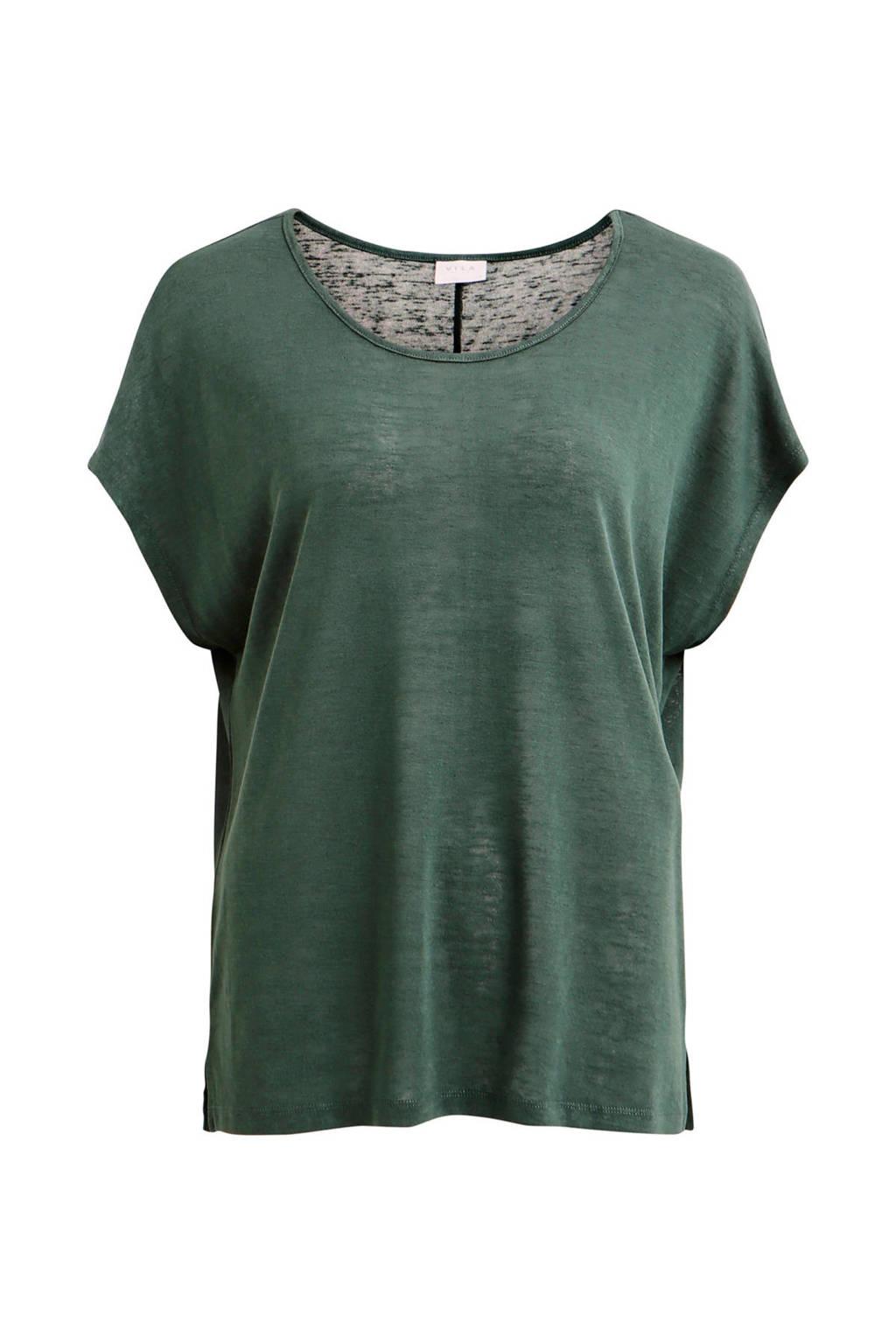VILA T-shirt groen, Groen