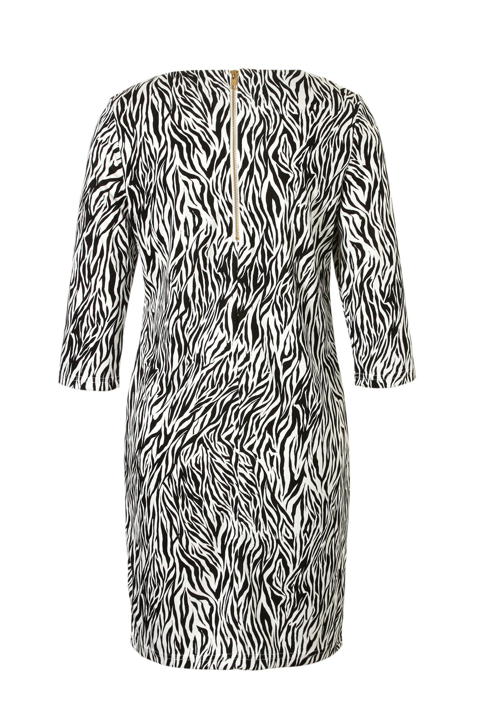 jurk zebraprint VILA met jurk VILA O4xwXp