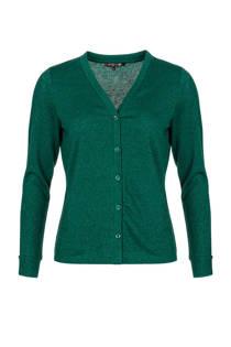 La Ligna glitter vest groen (dames)