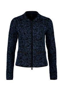 jasje met panterprint donkerblauw