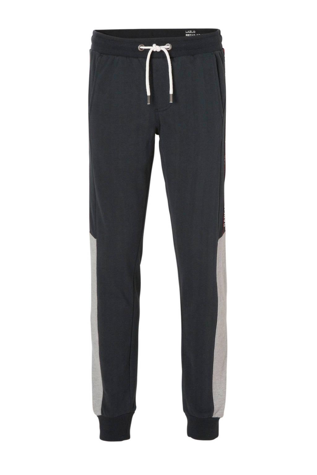 Garcia   sweatpants met zijbies donkerblauw, Donkerblauw/grijs