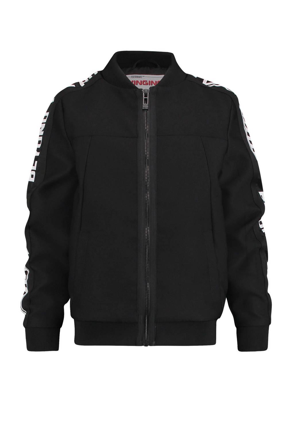 Vingino zomerjas Trom met tekst zwart, Zwart/wit