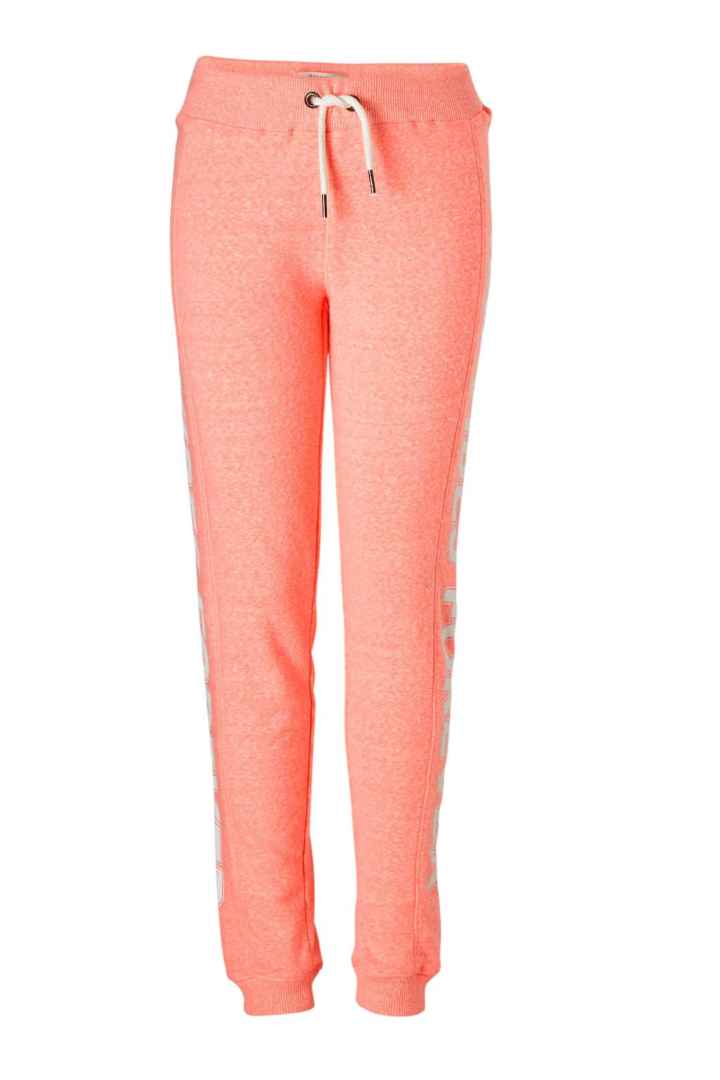 Garcia sweatpants met tekst neon roze, neon roze/wit