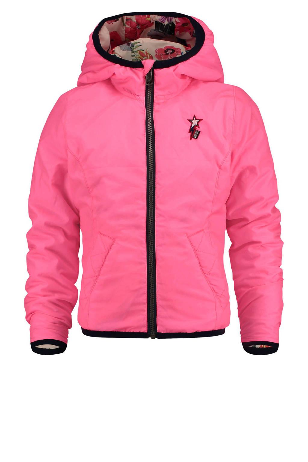 Vingino omkeerbare tussenjas Thelore roze, Felroze/multi