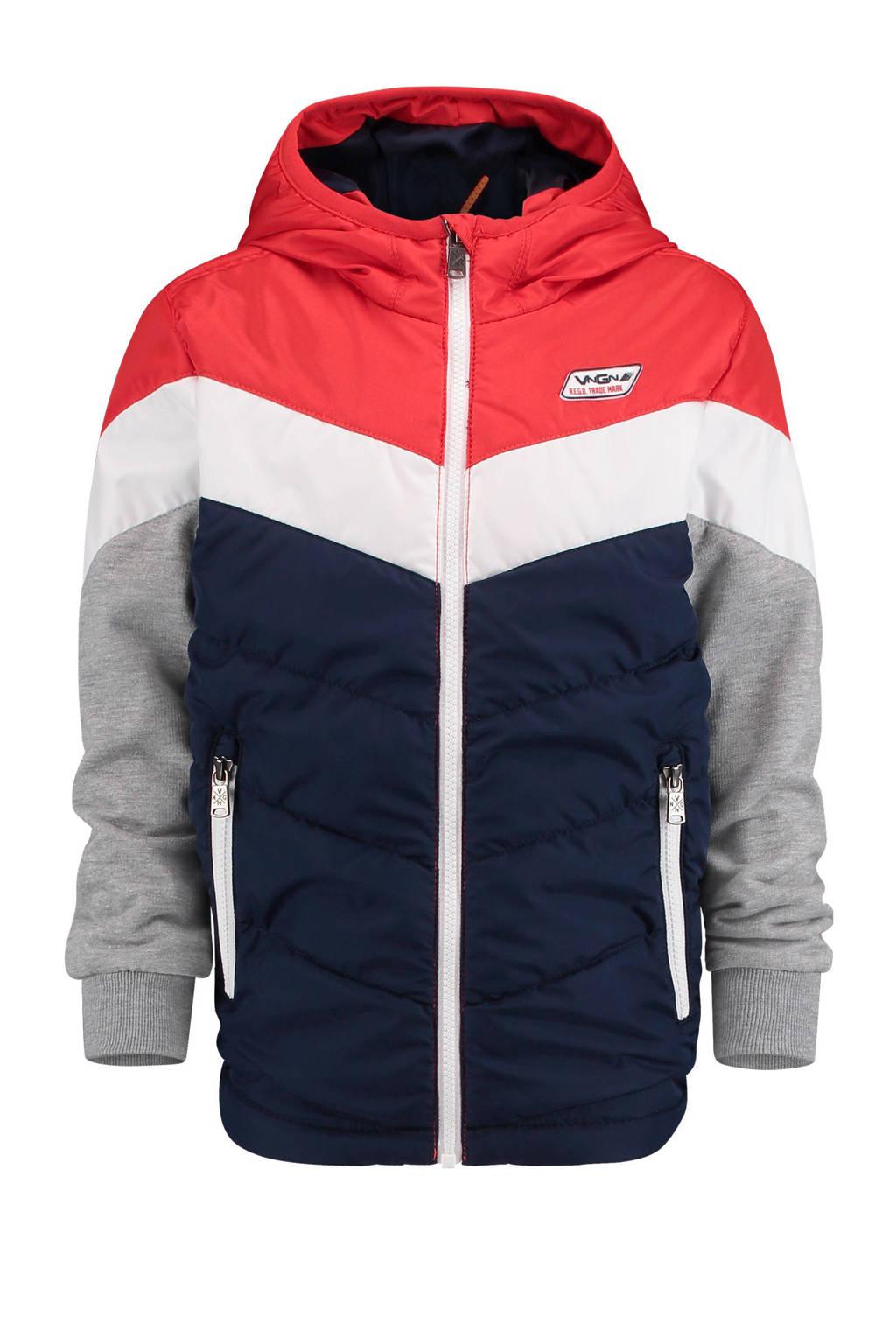 Vingino zomerjas Tamsir rood, Rood/wit/donkerblauw
