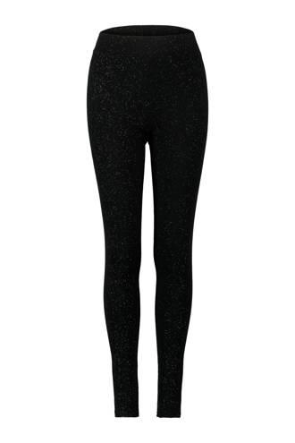 glitter legging zwart
