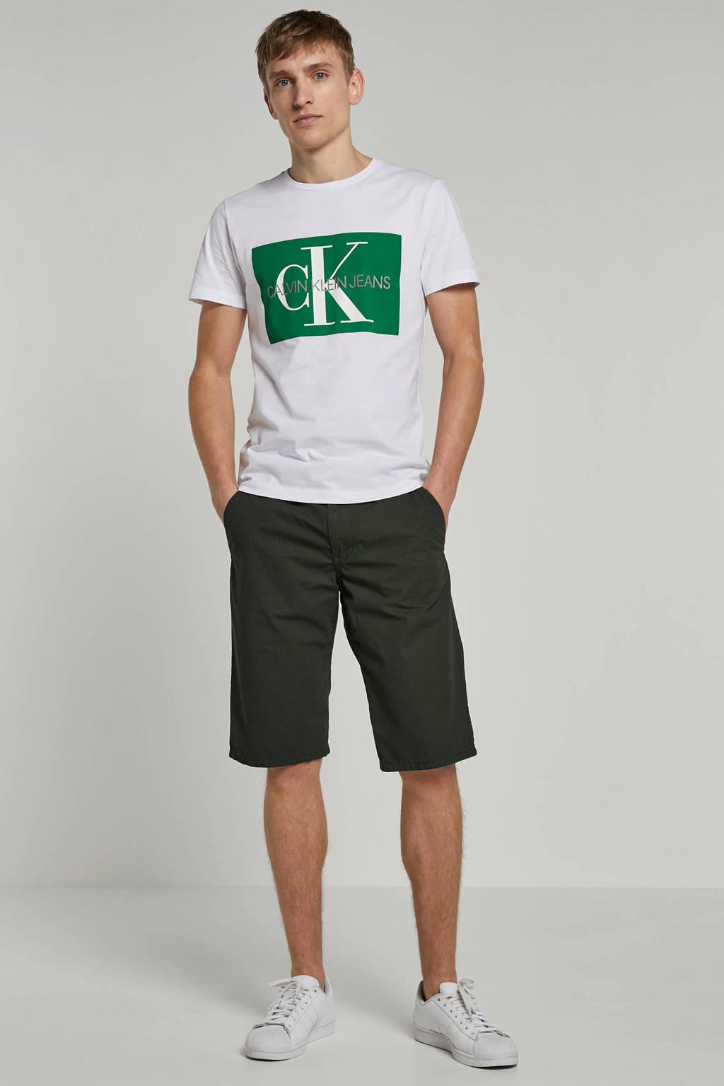 Calvin Klein Jeans T-shirt, Wit/groen