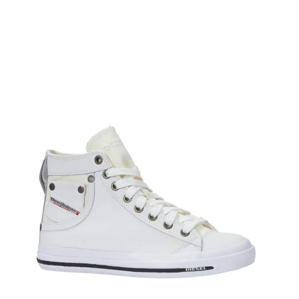 Diesel   Exposure IV W leren sneakers wit, Wit