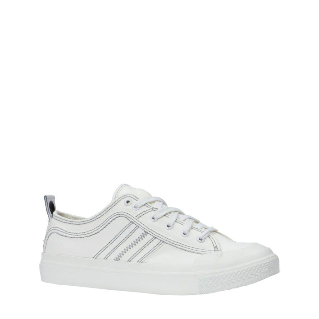 Diesel  S-Astico Low Lace sneakers wit, Wit/grijs