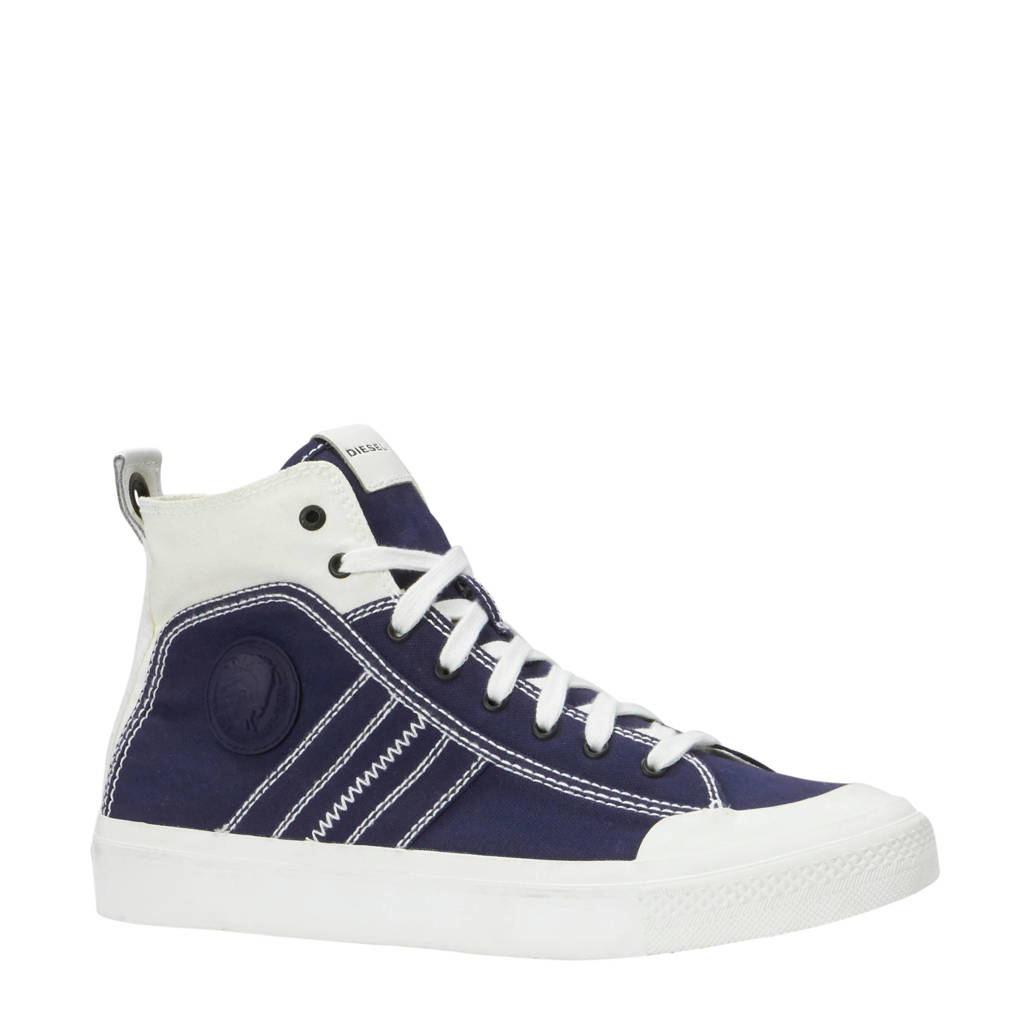 Diesel  S-Astico Mid Lace sneakers donkerblauw, Donkerblauw
