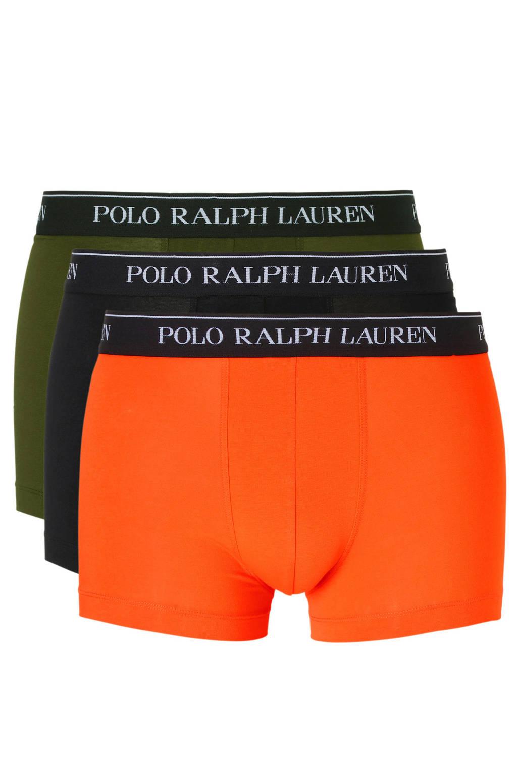 POLO Ralph Lauren boxershort (set van 3), Donkergroen/zwart/rood