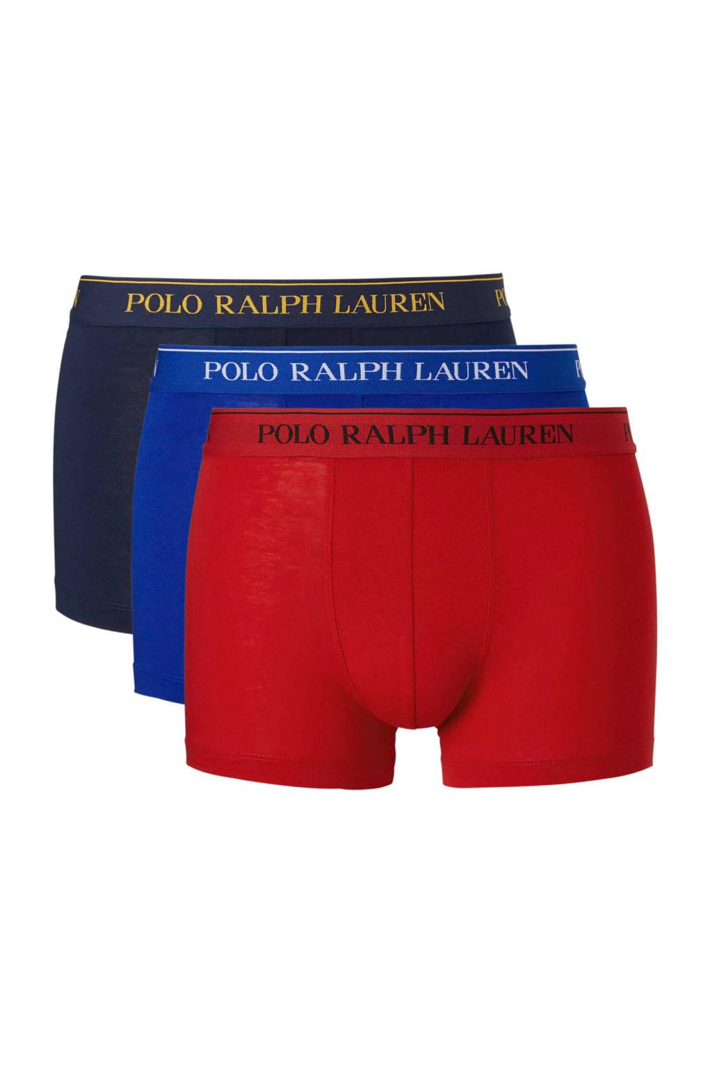 POLO Ralph Lauren boxershort (set van 3), Blauw/donkerblauw/rood