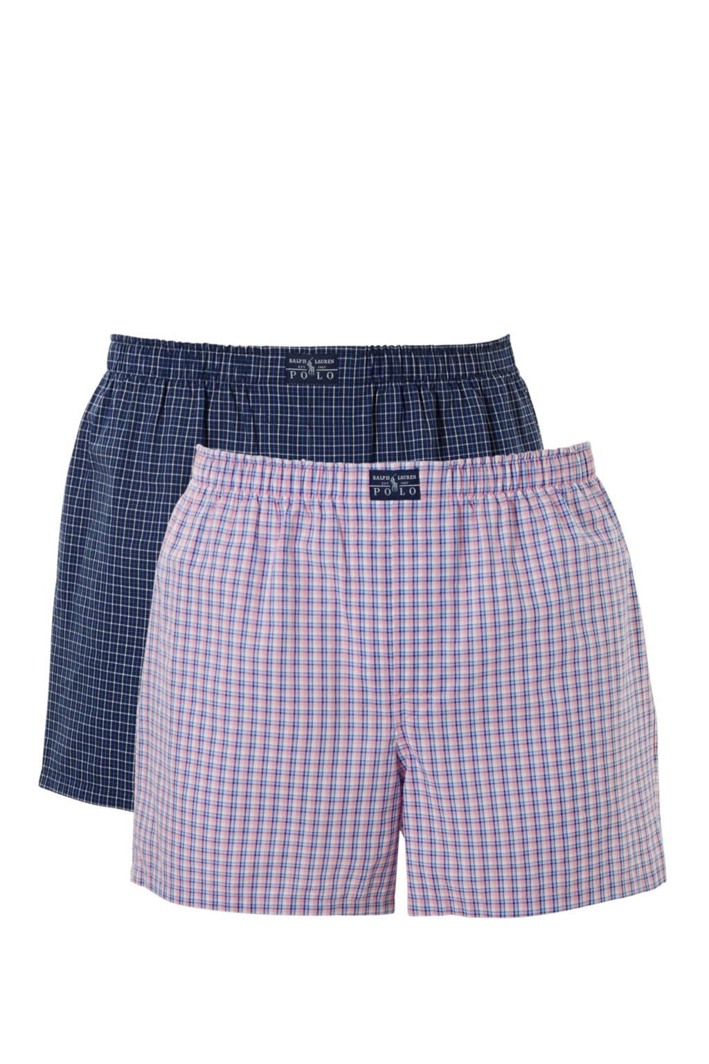 POLO Ralph Lauren boxershort (set van 3), Blauw/roze/donkerblauw