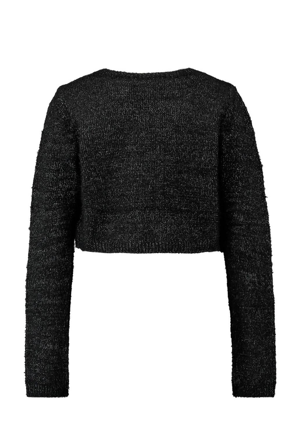 720e54d8a84 CoolCat glitter bolero vest zwart, Zwart/zilver