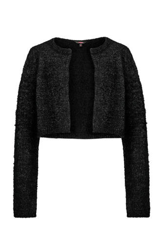 glitter bolero vest zwart