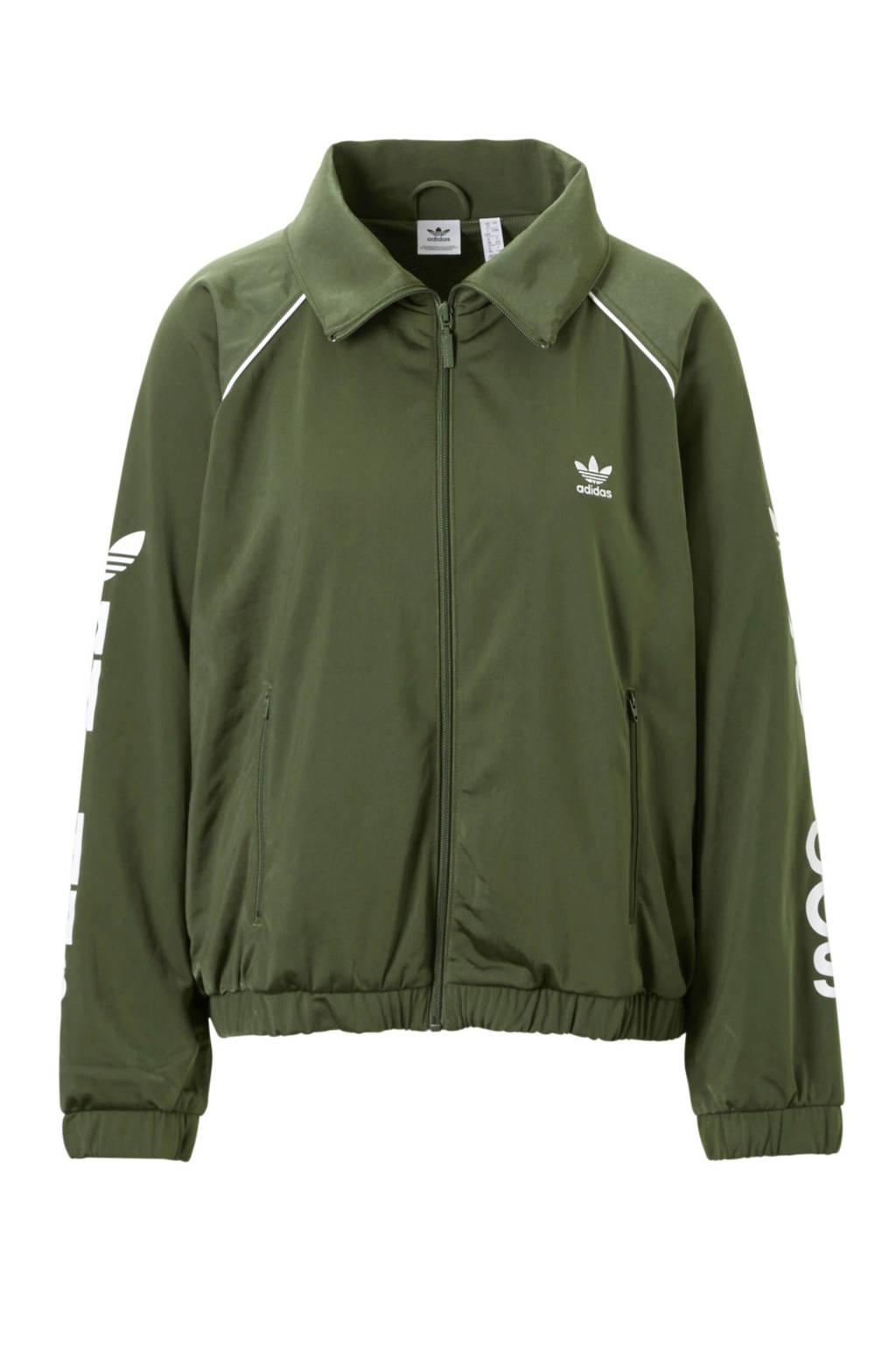adidas Originals vest olijfgroen, Olijfgroen/wit